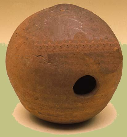 Photo of a Civil War hand grenade made from a cannon shell.