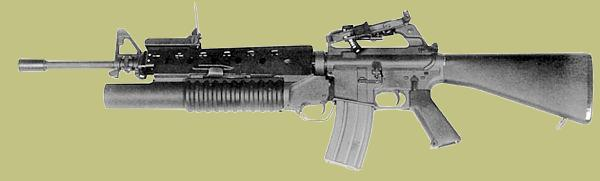 M203 40mm Grenade Launcher on the M16 Rifle.  The M203 grenade launcher was a major improvement in the concept of the rifle grenade launcher.