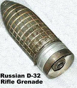 Photo of the D-32 rifle grenade used with the Russian Mosin-Nagan rifle grenade launcher.